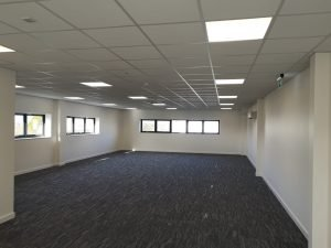 Cardiff Commercial Electrical Contractors Installed office lighting